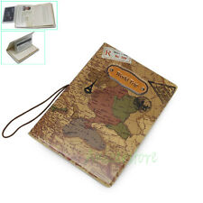 World Trip Map PVC Identity Card Passport Holder Protect Cover Travel Journey