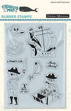 October Afternoon TREASURE MAP Rubber Stamp Set - A Pirate's Life