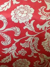 Romo Inari In Red Curtain Upholstery Fabric 3m Piece