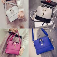 Women PU Leather Vintage Messenger Bag Shoulder Crossbody Bag Shell Bag
