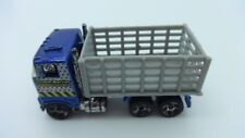 """Hot Wheels Blue Ford Stake Bed Truck """"Crash Barrier Construction"""" - Loose"""