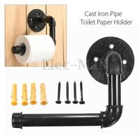 Industrial Rustic Style Iron Pipe Metal Wall Mounted Toilet Paper Holder