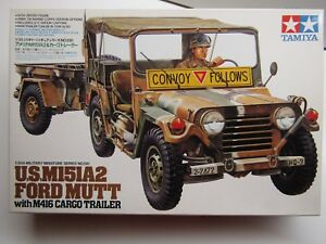 Tamiya 1:35 Scale U.S. M151A2 Ford Mutt without Cargo Trailer Used - Kit #35130