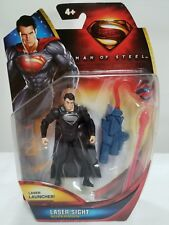 SUPERMAN MAN OF STEEL LASER SIGHT LASER LAUNCHER ACTION FIGURE 4+ NEW