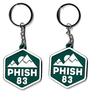 Phish '83 Ascend Rubber Keychain Lot of 2 Emblem Symbol Insignia Logo Key Chain