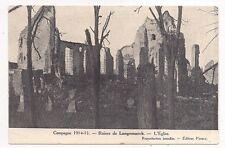 campagne 1914-1915 , ruines de langemarck , l'église