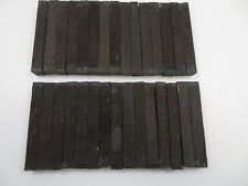 "(30) LOT OF 30, JET BLACK  EBONY PEN BLANKS WOOD TURNING SQUARE 3/4 x 3/4"" x  6"""