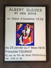 Original Vintage Albert Gleizes Poster, Framed Silkscreen 1974