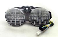 Clignotants LED Feu arrière intégrés pour Yamaha YZF 600 R6 2001-2002 Clear