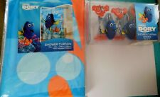 New Disney Pixar Finding Dory Fabric Shower Curtain & 12 Hooks Set 72X72 $75