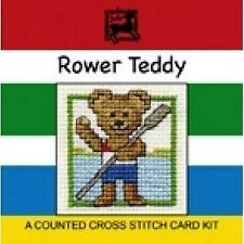 Textile Heritage Counted Cross Stitch Kit - Mini Card  - Rower Teddy