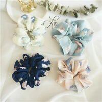 Cute Floral Hair Scrunchies Bun Ring Hair Ties Women Sports Dance Scrunchie