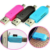 2-in-1 USB 2.0 OTG Adapter Micro SD TF Memory Card Reader For Android Phones PC