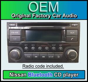 Nissan Qashqai Bluetooth Lecteur CD Stéréo, Nissan 28185BH30D, AGC-0071RF + Code
