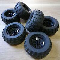 LEGO - x4 qty Wheel 43.2mm D. x 26mm  Tire 81.6 x 38 R Balloon (56908 / 45982)