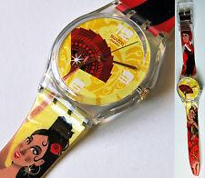 swatch ritmo desenfrenado ge101 orologio gent uomo donna da collezione raro new