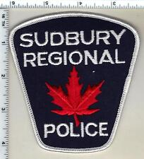 Sudbury Regional Police (Canada) Shoulder Patch from 1990