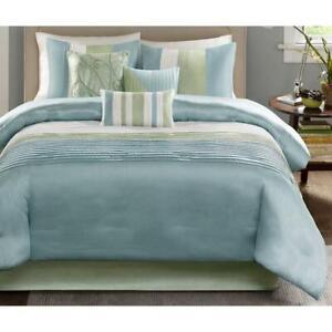 Madison Park Carter 7-Pc. Queen Comforter S Blue/Green