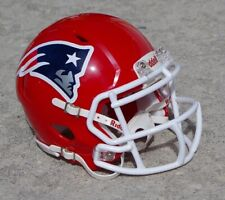 NEW ENGLAND PATRIOTS RED CONCEPT MINI FOOTBALL HELMET