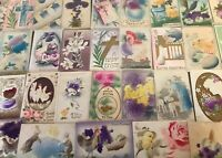 Big Estate Lot of 50 Antique ~AIRBRUSHED~Puffy~ Vintage~EASTER~Postcards--s-97