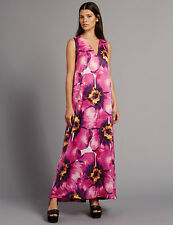 BNWT M&S COLLECTION Floral Print Tie Back Maxi Dress UK12 Summer Holiday
