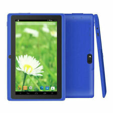"NEW Blue Allwinner 7"" Android Tablet, 4 GB, Quad Core with Earbuds BUNDLE"