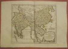 India, China, South-ast Asia, Tartarie, 1784 HAND COLORED MAP DE VAUGONDY