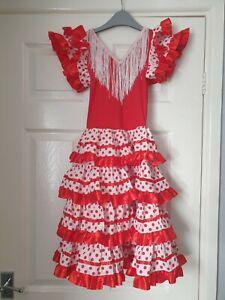 Girls Flamenco Dancing Fancy Dress * Age 8