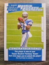 2007 Topps Rookie Fantasy Challenge #5 Calvin Johnson