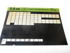 Kawasaki KZ550 - F1/F2: SPECTRE & LTD Parts List Micro Fiche
