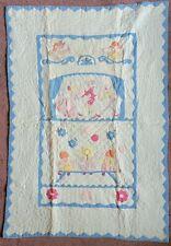 Antique Quilt Nursery Baby Bedding Theme Marionette Puppet Show Handstitched