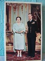 POSTCARD, TUCK, ROYALTY, KING GEORGE, QUEEN MOTHER, RARE, VINTAGE, ATTIC FIND