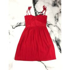 The Kooples Dress Womens Red Crepon Chiffon Red Spaghetti Strap Size XS XXS $325