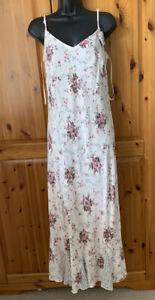 Marks &Spencer Vintage  Summer Strappy Midi Dress 14 L