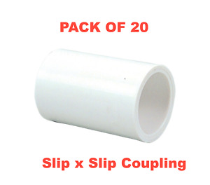 """3/4"""" PVC Schedule 40 Pressure Fitting - Slip x Slip Coupling - MADE IN THE USA"""