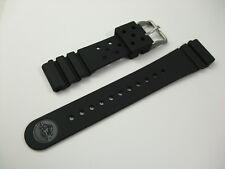 Seiko Genuine 22mm Rubber Band DAL1BP Black Urethane Strap Vintage Diver
