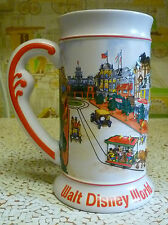 "Walt Disney World Stein Mug Cup 3D Embossed Castle Main St. Mickey 6.5"""