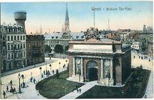 WESEL Berliner Tor Platz Straße Vogelschau um 1908