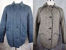 AQUASCUTUM LONDON BLUE QUILTED FAMOUS HOUSE CHECK REVERSIBLE JACKET COAT~10