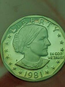 1981-S *Type 2* Susan B Anthony Dollar (SBA) // Gem Proof DCAM // 1 Coin