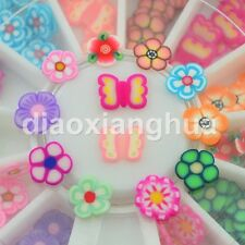 12styles fimo flower 3d Nail Art Decorations wheel beauty DIY Nail Styling Tools