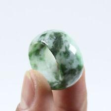 """Certified Grade"""" A """"Natural Green Jade Jadeite Gems Ring USA 11 a3315"""