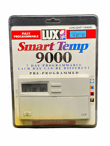 LUX Smart Temp TX9000 7 Day Programmable Thermostat LUXLIGHT New & Sealed