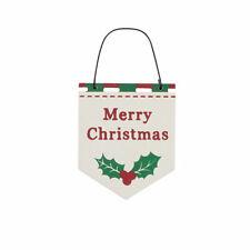 Merry Christmas Hanging Christmas Plaque - Cracker Filler Gift