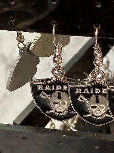 Raiders earrings football team nice for lady girl ,NFL football team !!
