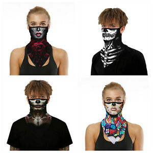Washable face mask balaclava snood neck cover sugar skull day of the dead