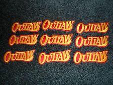 "9 Custom  Biker Vest Patch OUTLAW  5""X 1 3/8"""