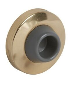 Five (5) Commercial Grade Wall Bumpers / Door Stops ~ N236-003 ~ Bright Brass