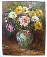 Blumenbild um 1900 signiert Öl Bild
