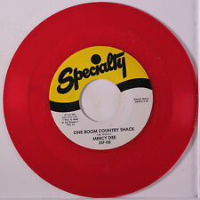 MERCY DEE: One Room Country Shack / My Woman Knows The Score 45 (re, red wax)